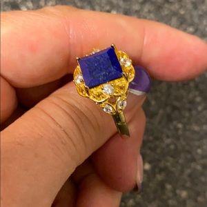 JTV Jewelry - 9mm Lapis Lazuli, .25ctw Citrine & .56ctw Zircon